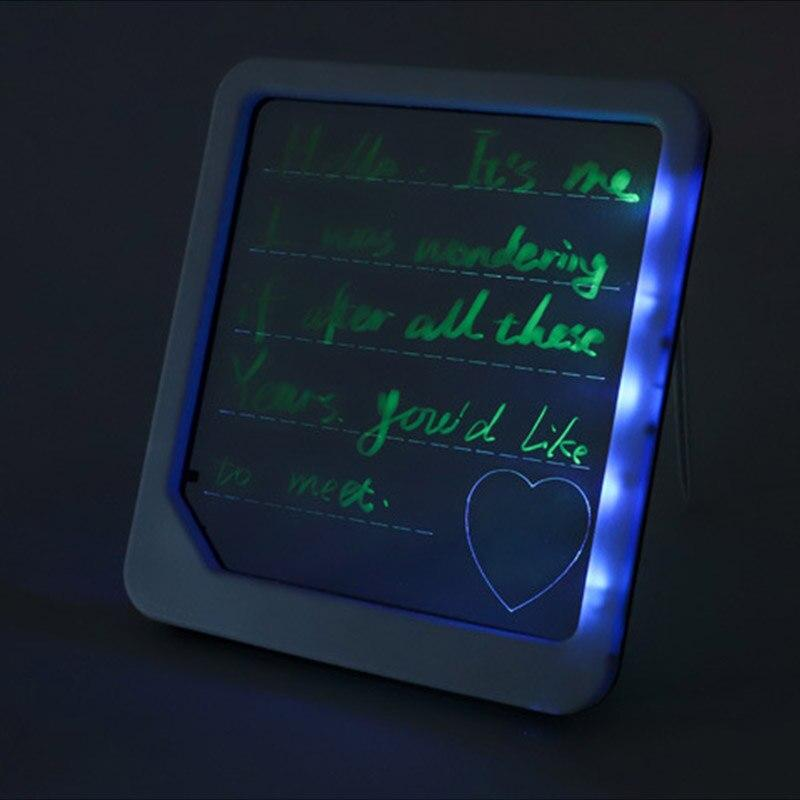 Fluorescent LED Writing Board