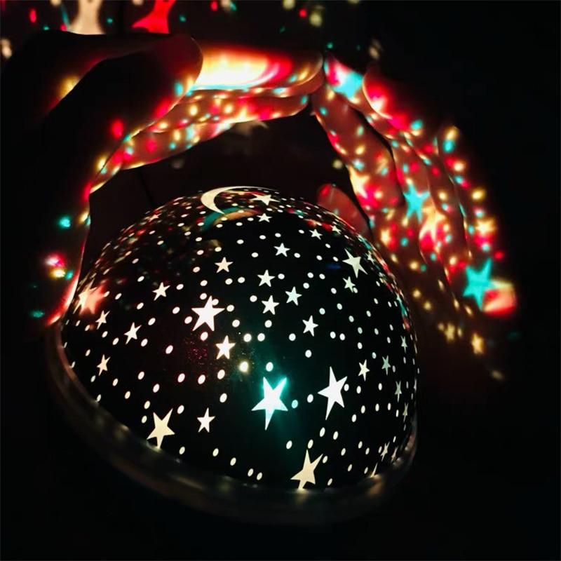 Starry Sky LED Night Light Projector Pink
