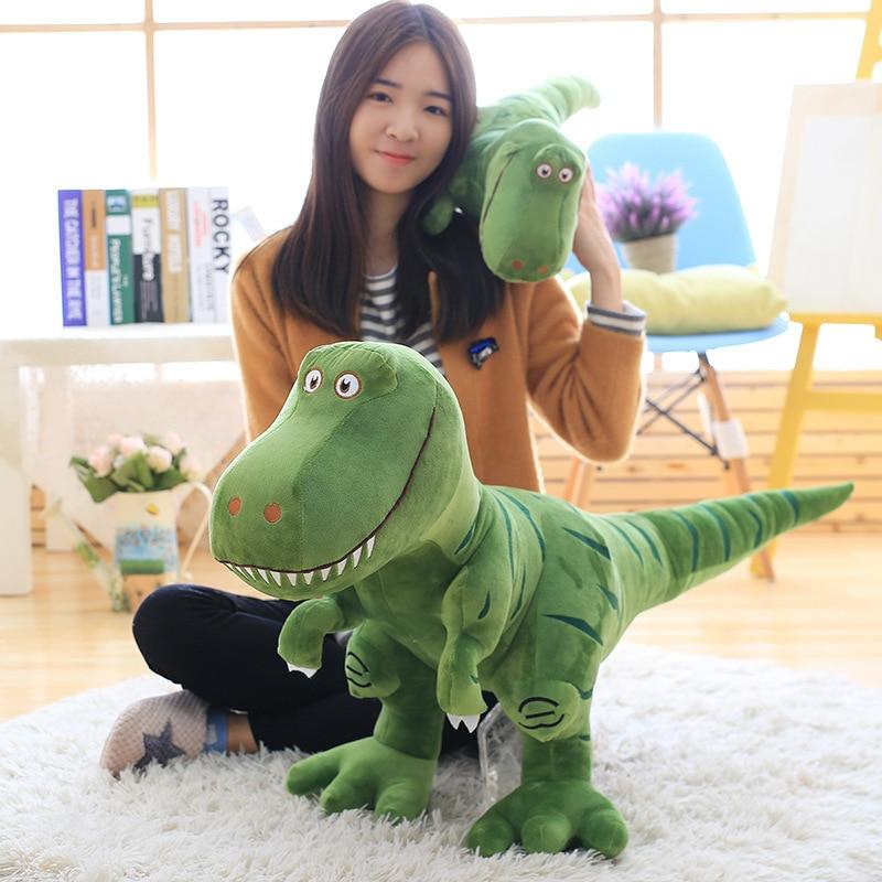 Tyrannosaurus REX Dinosaur Cartoon Stuffed Toy Green