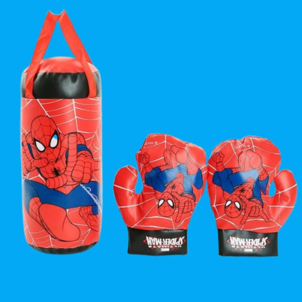 Web Slinging Punching Bag With Gloves