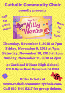 CCC performance of Willy Wonka Jr 2018