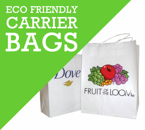 Printed Carrier bags to hold your promotional giveaways