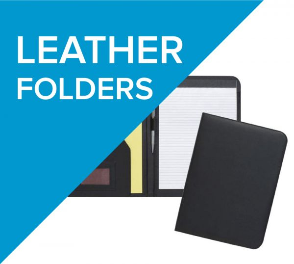 Leather folders available decorated with a range of techniques
