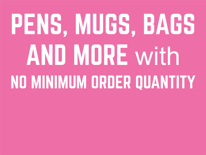 Promotional Products with NO minimum order quantity