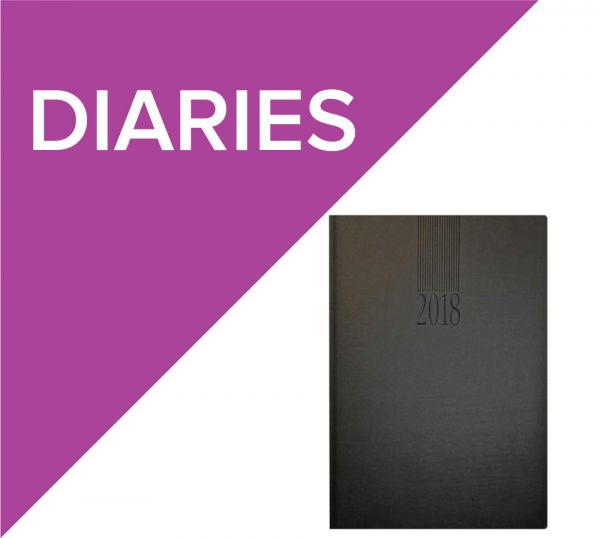 Promotional diaries with a logo print