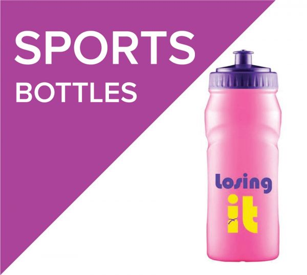 Keep hydrated during sporting activies with promotional sports bottles