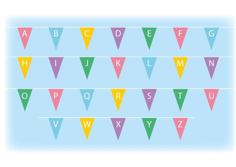 Capital letters bunting