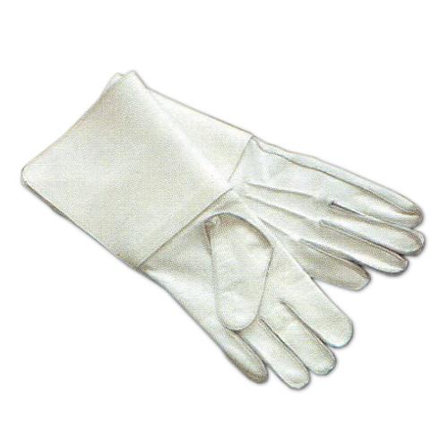 Ceremonial flagpole white gauntlets