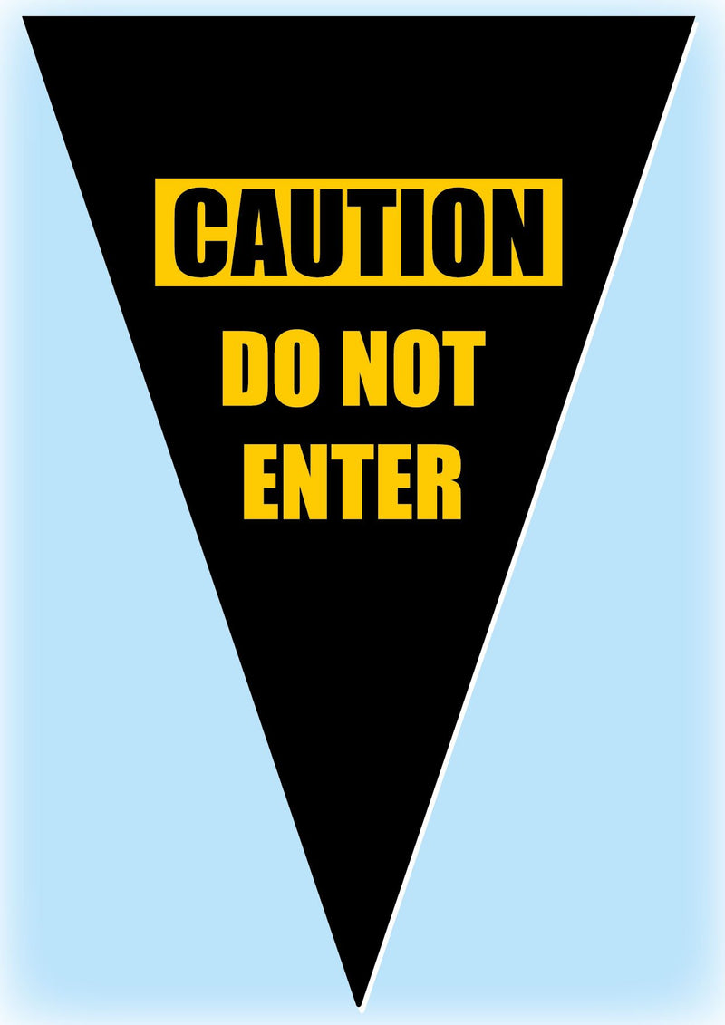 Caution Do Not Enter Bunting