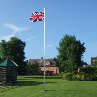 6m Deluxe Flagpole with Internal Halyard