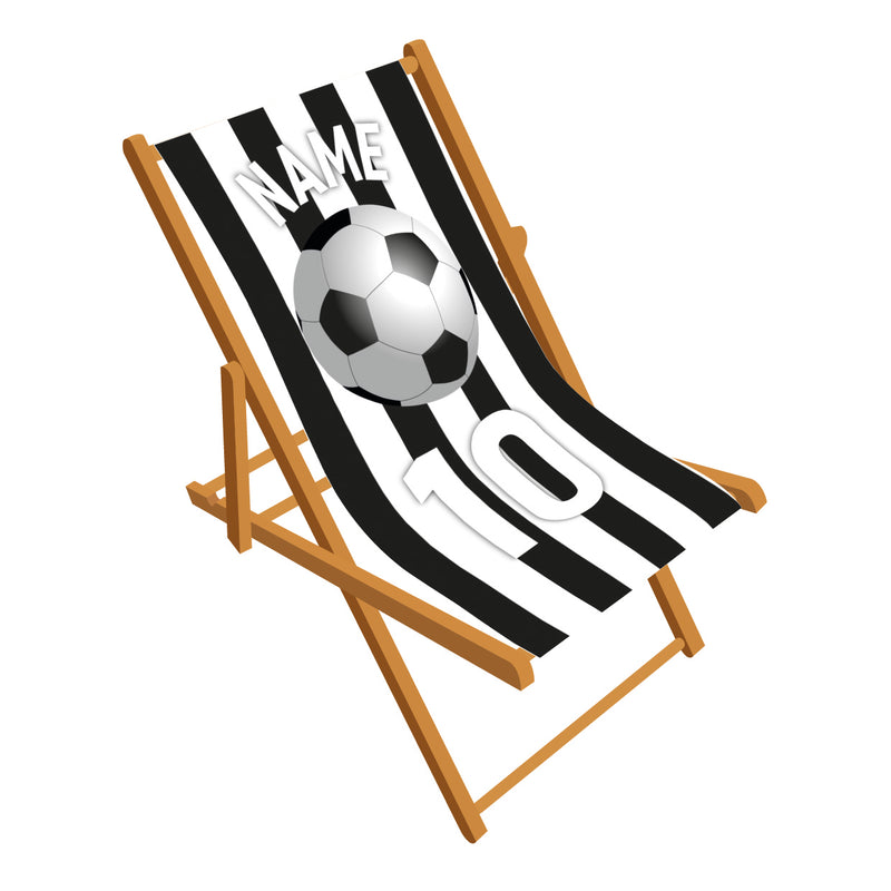 Football colour stripes deckchair