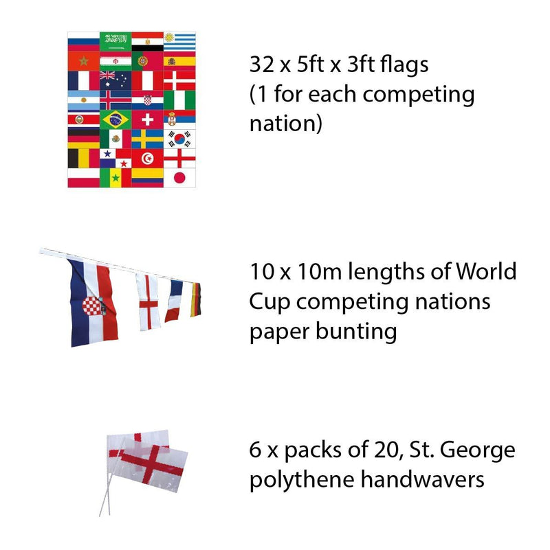 Large World Cup pub pack - Competing Nations