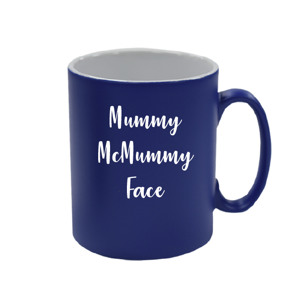 Personalised Royal Blue Satin Mug