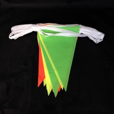 Multicoloured hi-vis bunting