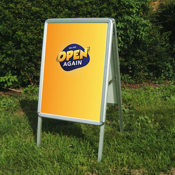We are open A-board