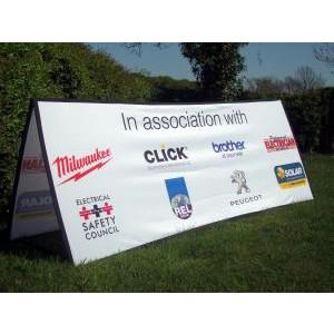 Horizontal square ended pop out banner 2m x 1m