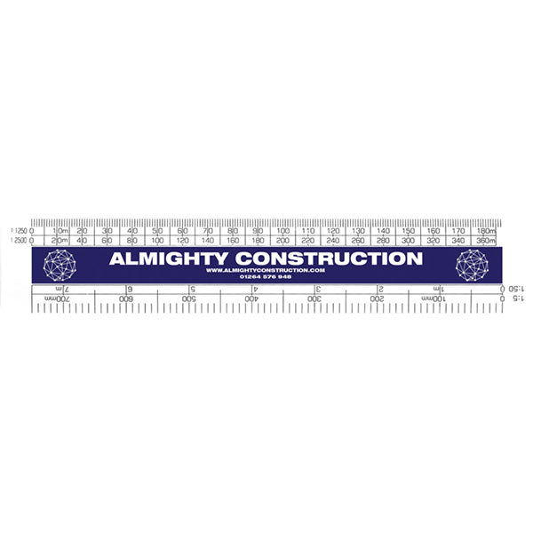 150mm Architect Scale Promotional Rule - printed 1 Colour
