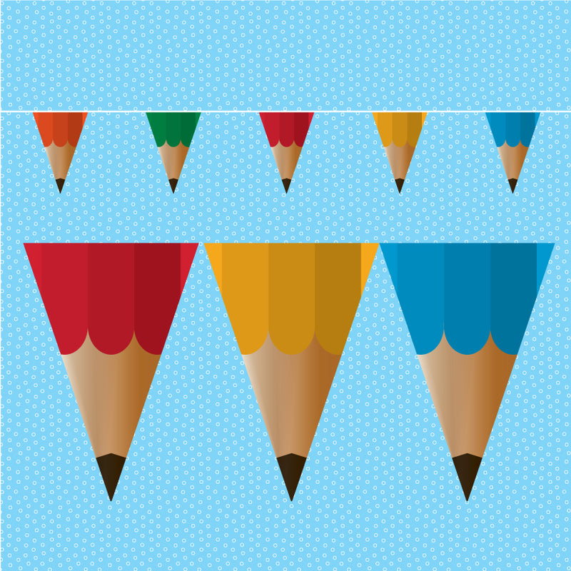 Pencil educational bunting