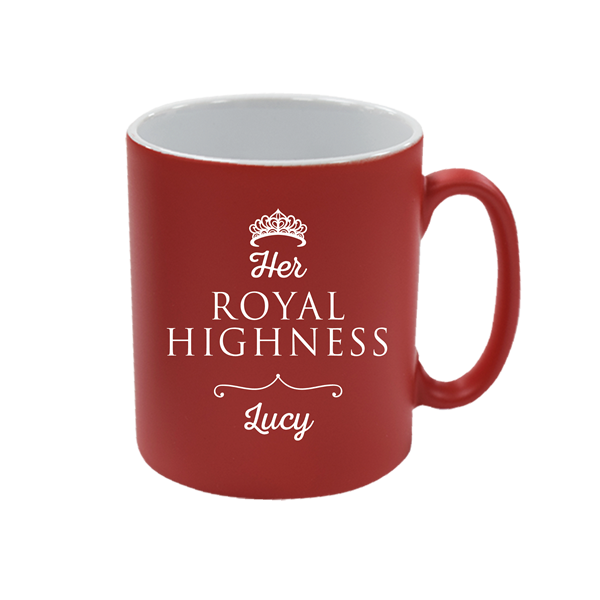 Personalised Red Satin Mug