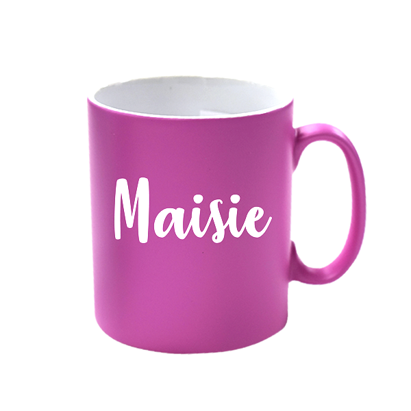 Personalised Pink Satin Mug