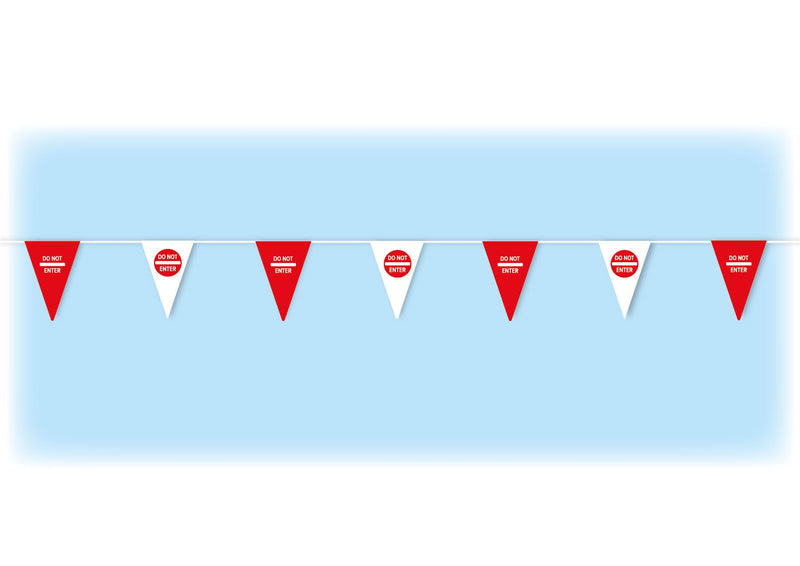 Red safety bunting