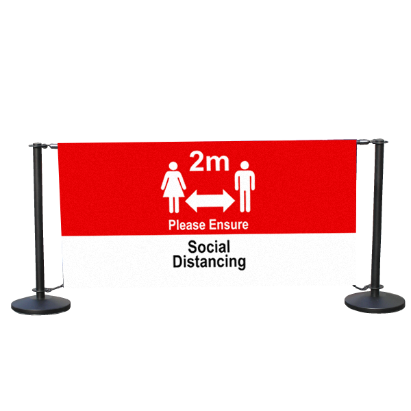 Social Distancing 1200mm Cafe Windbreak barrier
