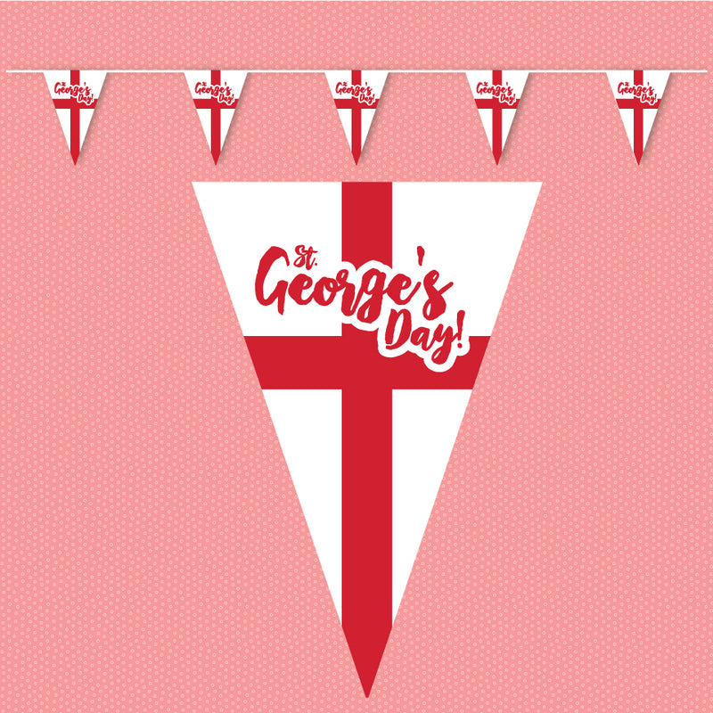 St Georges Day outdoor bunting