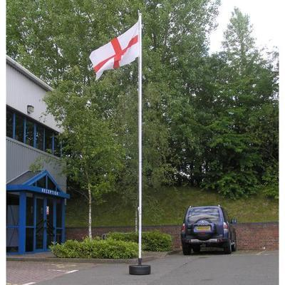 Universal flagpole with single millstone base