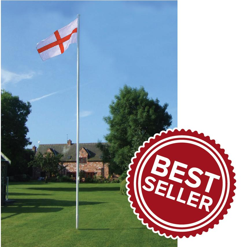 6 metre single piece flagpole