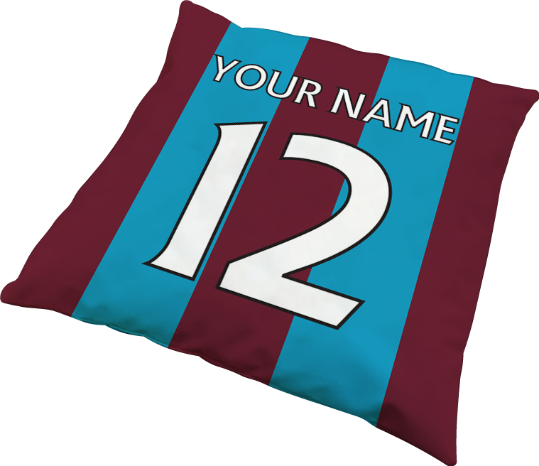 Personalised football team cushions