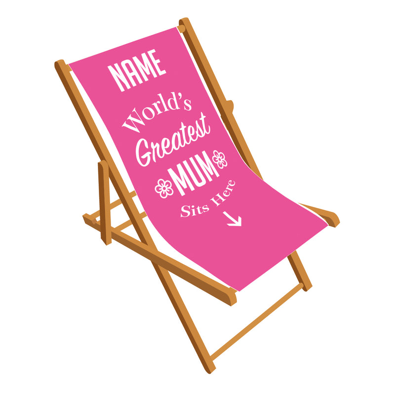 Worlds greatest Mum Deckchair
