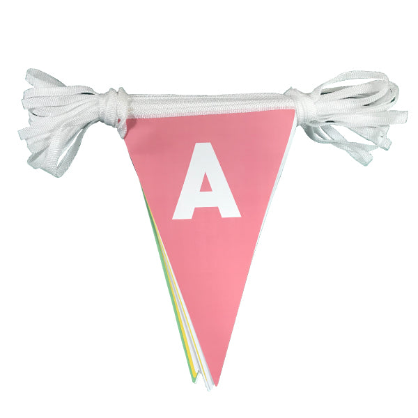 Learn capital letters bunting