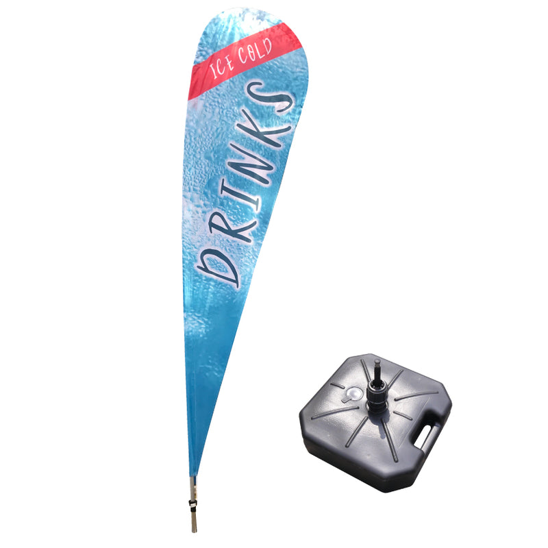 Medium Teardrop Flag with Water Fillable Base