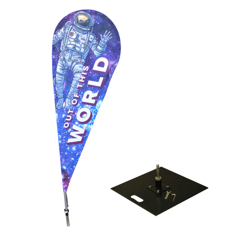 Small Teardrop Flag with 7kg base