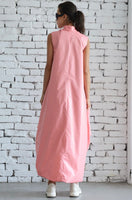 PINK LOOSE FIT DRESS