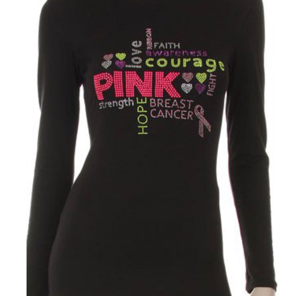 Breast Cancer Awareness Tee - Long Sleeve