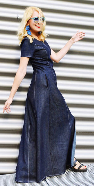DARING DENIM MAXI DRESS