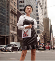 Bustier Vegan Leather Dress