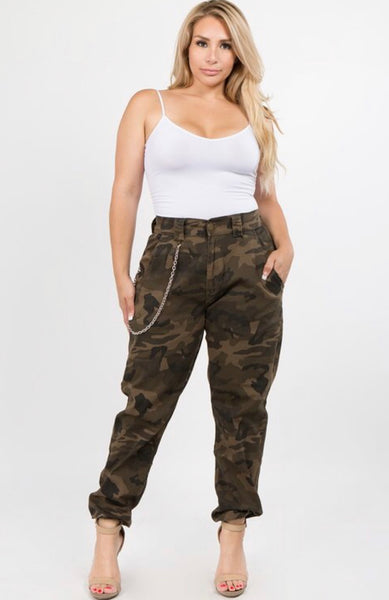 Brown CAMOUFLAGE PANTS (PLUS)