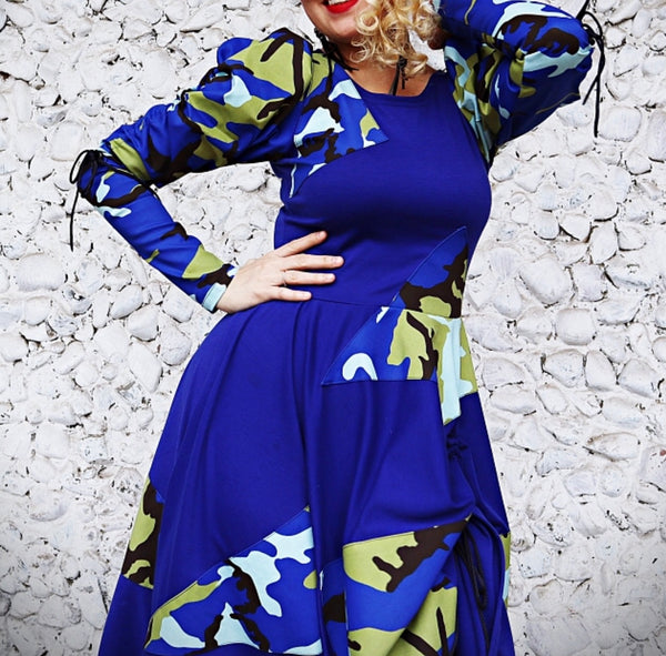 Camouflage Blue Dress