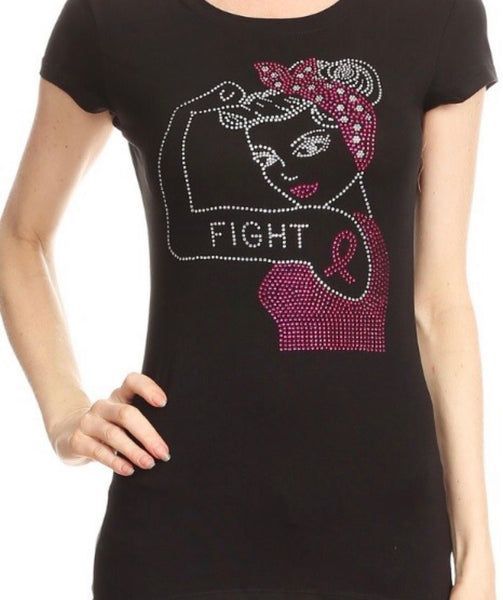 "Breast Cancer Awareness Tee ""FIGHT"""