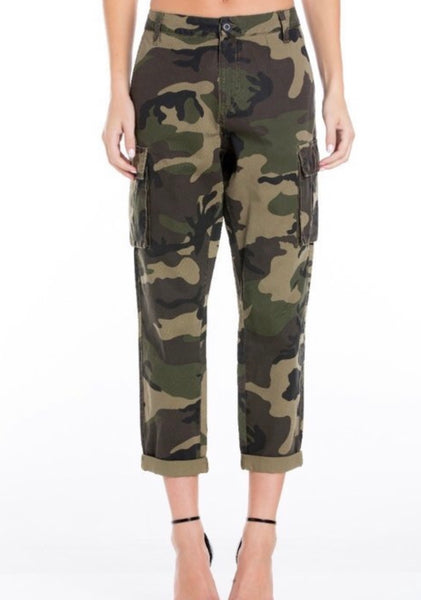 ARMY GREEN CAMO PANTS w/CUFF