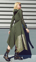 ARMY SWEATSHIRT MAXI DRESS