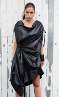 "BLACK ""RUNWAY"" ASYMMETRICAL DRESS"
