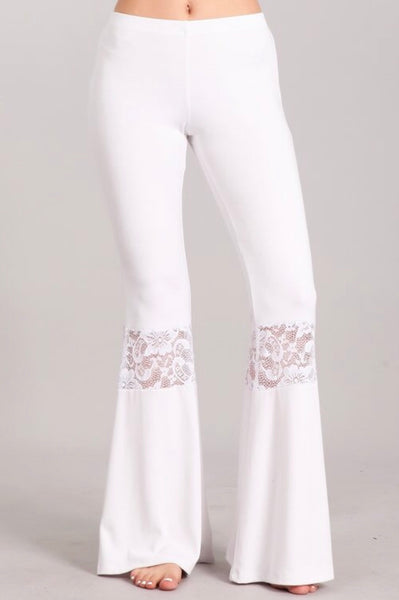 White Bell Pants