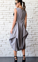 GREY ASYMMETRICAL DRESS