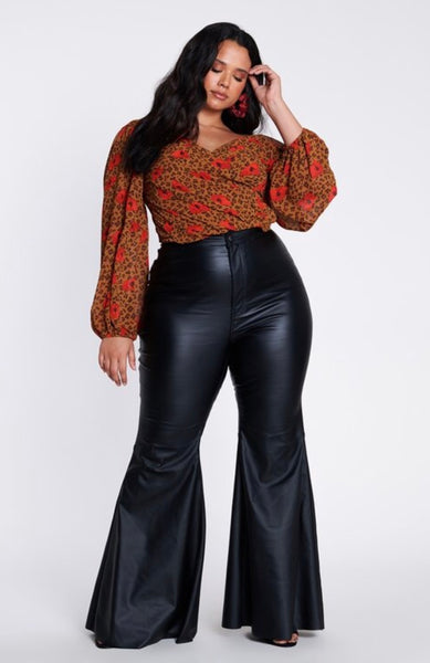 Faux Leather Pants (PLUS)