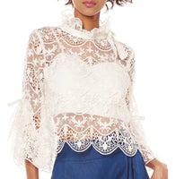 """LACEY"" BLOUSE"