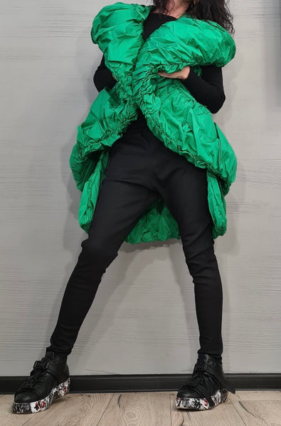 Extravagant Puffy Vest (GREEN)