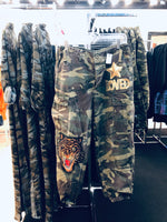 Tiger Patched Camouflage Pants